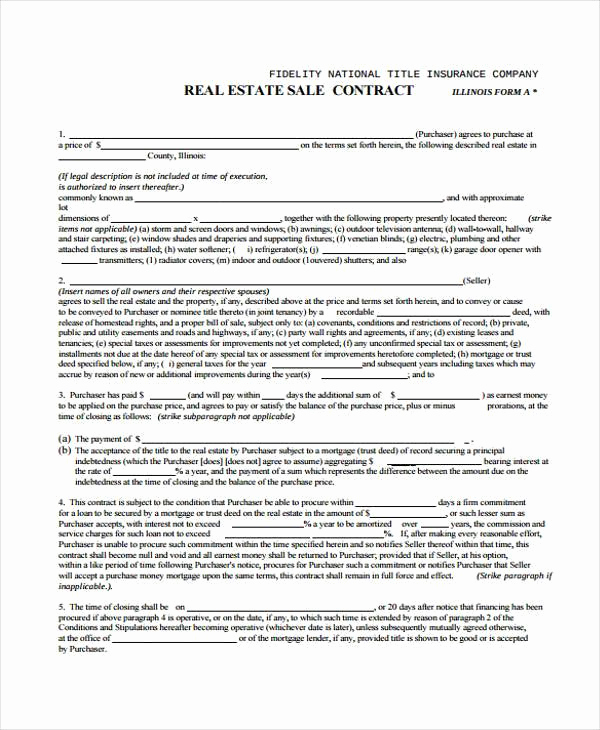 Free Real Estate Contract Inspirational 38 Sample Free Contract forms