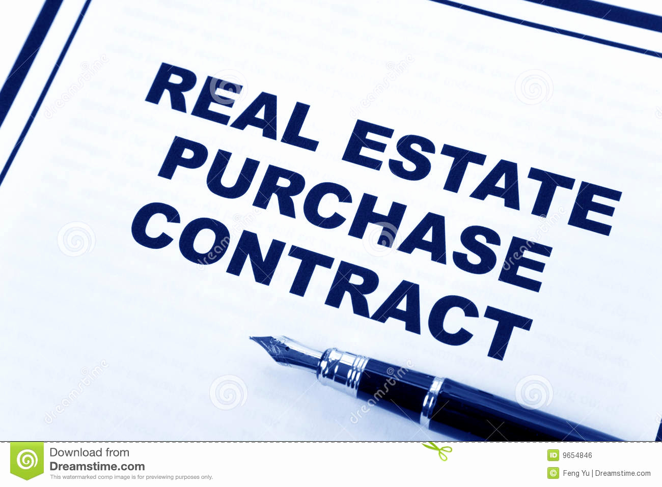 Free Real Estate Contract Unique Real Estate Purchase Contract Royalty Free Stock Image