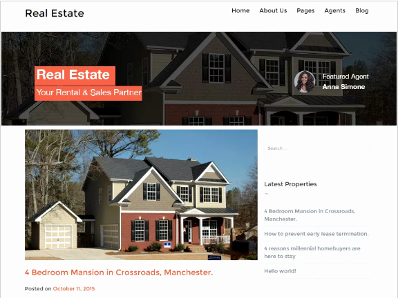Free Real Estate Wordpress themes Awesome 10 Best Free Real Estate Wordpress themes 2018
