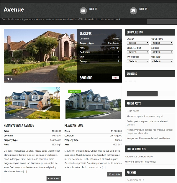 Free Real Estate Wordpress themes Best Of 15 Free Real Estate Agencies Realtors Wordpress themes