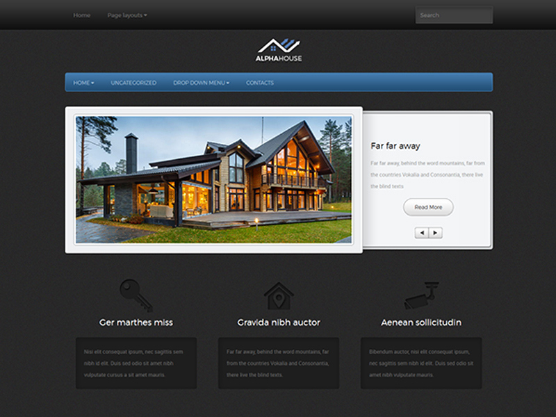 Free Real Estate Wordpress themes Best Of Alphahouse Free Wordpress Real Estate theme Freemium