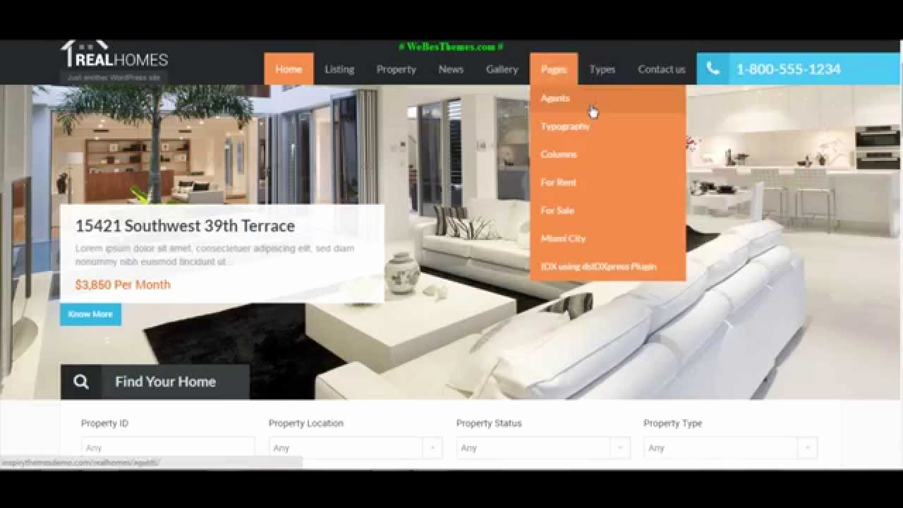 "Free Real Estate Wordpress themes Luxury Hot ""real Homes"" Wordpress Real Estate Premium theme [with"