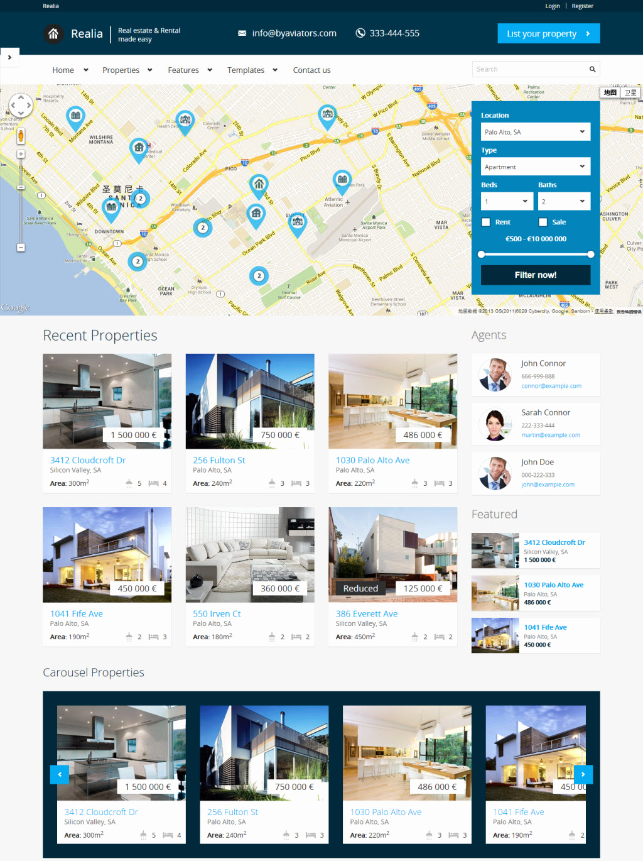 Free Real Estate Wordpress themes Luxury Realia A Premium Business Wordpress theme