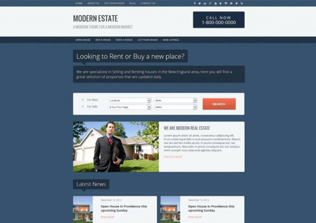best free and premium real estate themes