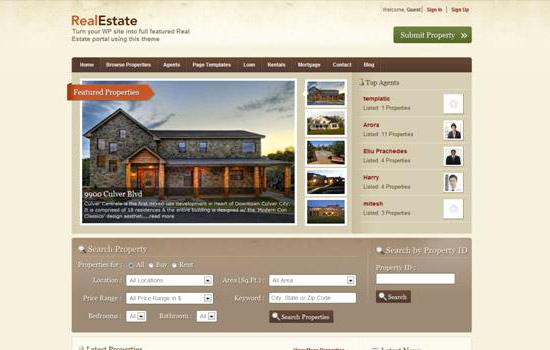 Free Real Estate Wordpress themes Unique 20 Free Premium Wordpress Real Estate themesdesign Dazzling