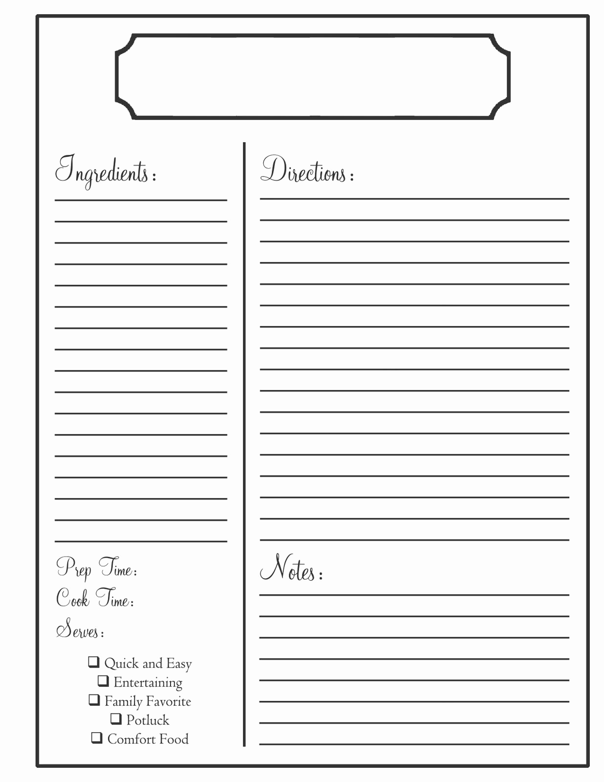Free Recipe Template for Word Awesome Home Need to Know