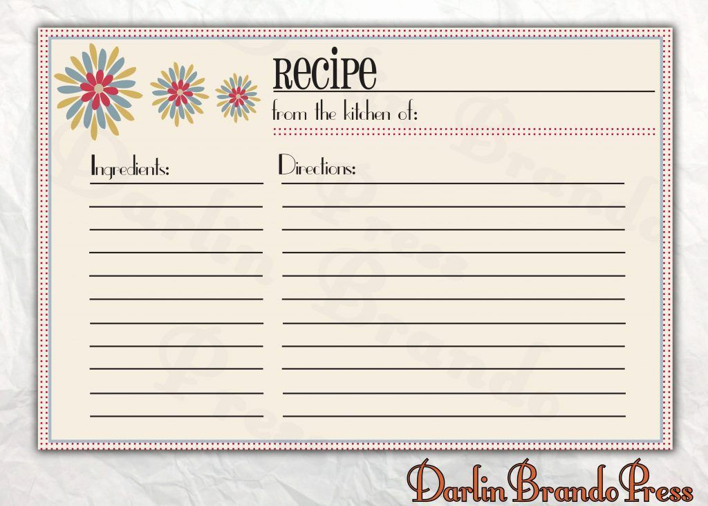 Free Recipe Template for Word Beautiful Free Recipe Card Templates for Microsoft Word – Free
