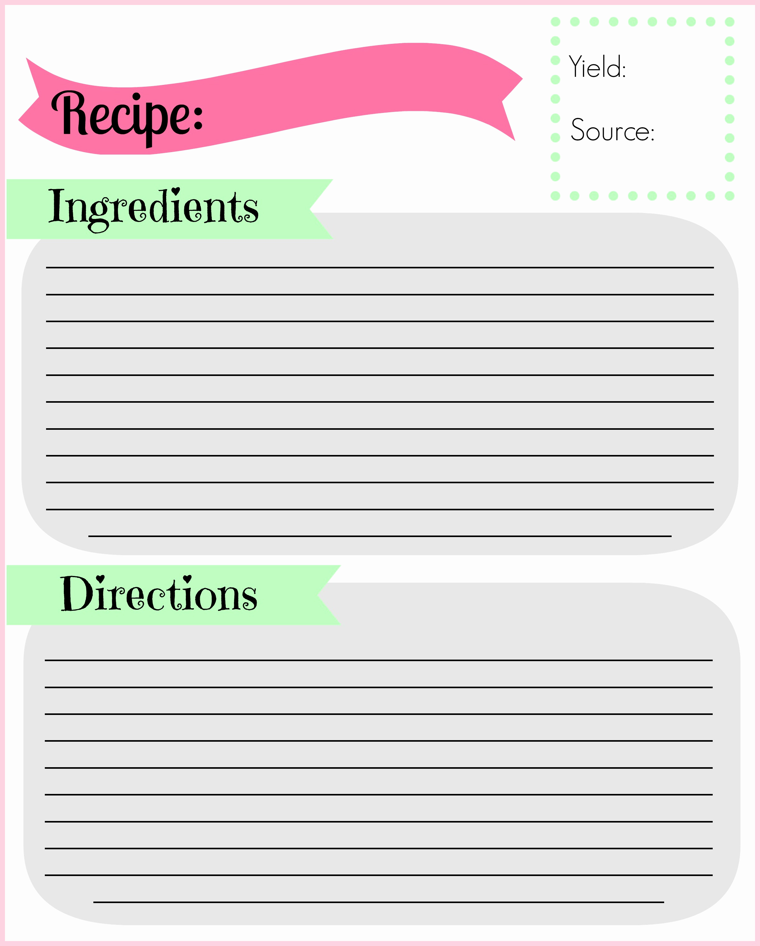 Free Recipe Template for Word Fresh Diy Recipe Binder