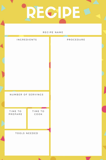 Free Recipe Template for Word Lovely Customize 9 482 Recipe Card Templates Online Canva