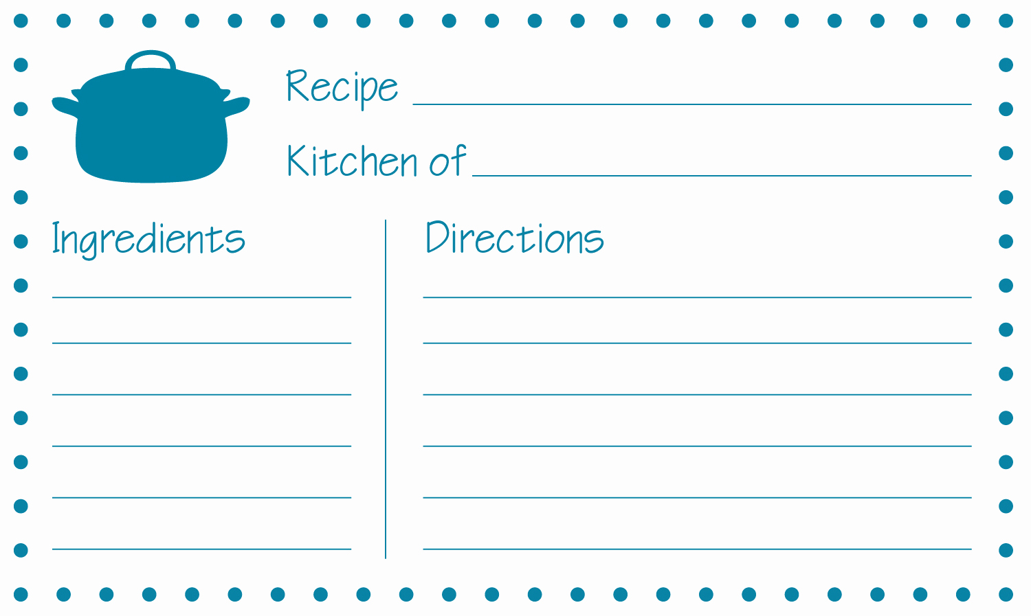 Free Recipe Template for Word Luxury Free Printable Recipe Cards