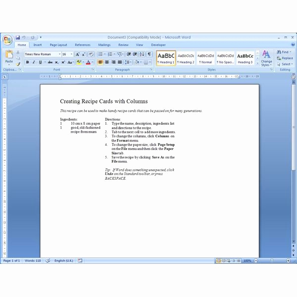 Free Recipe Template for Word New Finding Microsoft Word Recipe Templates