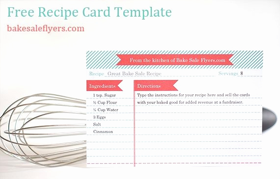 Free Recipe Template for Word Unique Free Recipe Card Template You Can Type In Your Recipe In