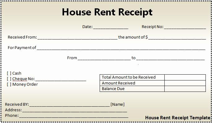 Free Rent Receipt Template Elegant 16 House Rent Receipt format