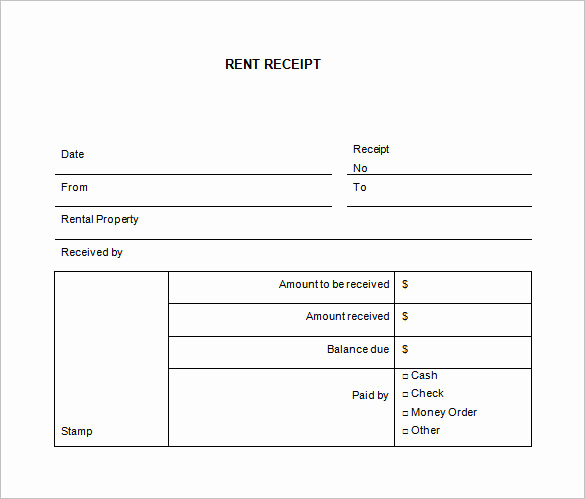 Free Rent Receipt Template Inspirational 35 Rental Receipt Templates Doc Pdf Excel