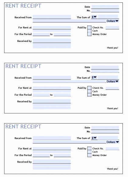 Free Rent Receipt Template Inspirational Download Printable Rent Receipt Templates Pdf
