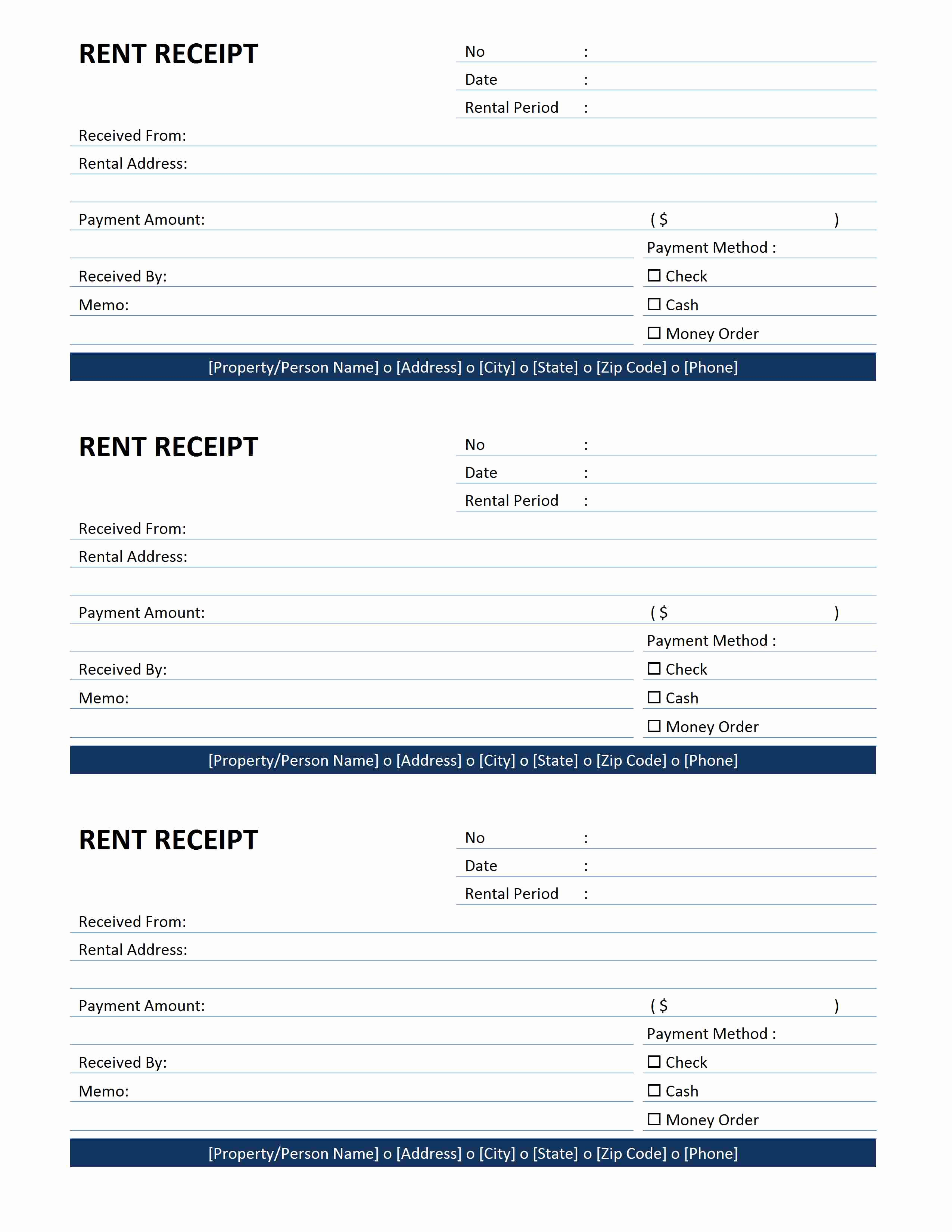 Free Rent Receipt Template Unique Rent Receipt