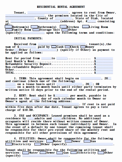 Free Rental Agreement Pdf Awesome Rental Lease Agreement Templates Free