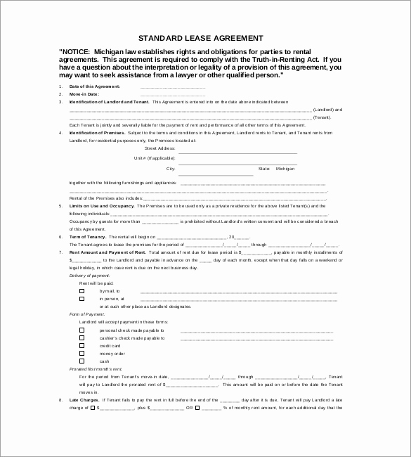 Free Rental Agreement Pdf Best Of 17 Lease Template Doc Pdf