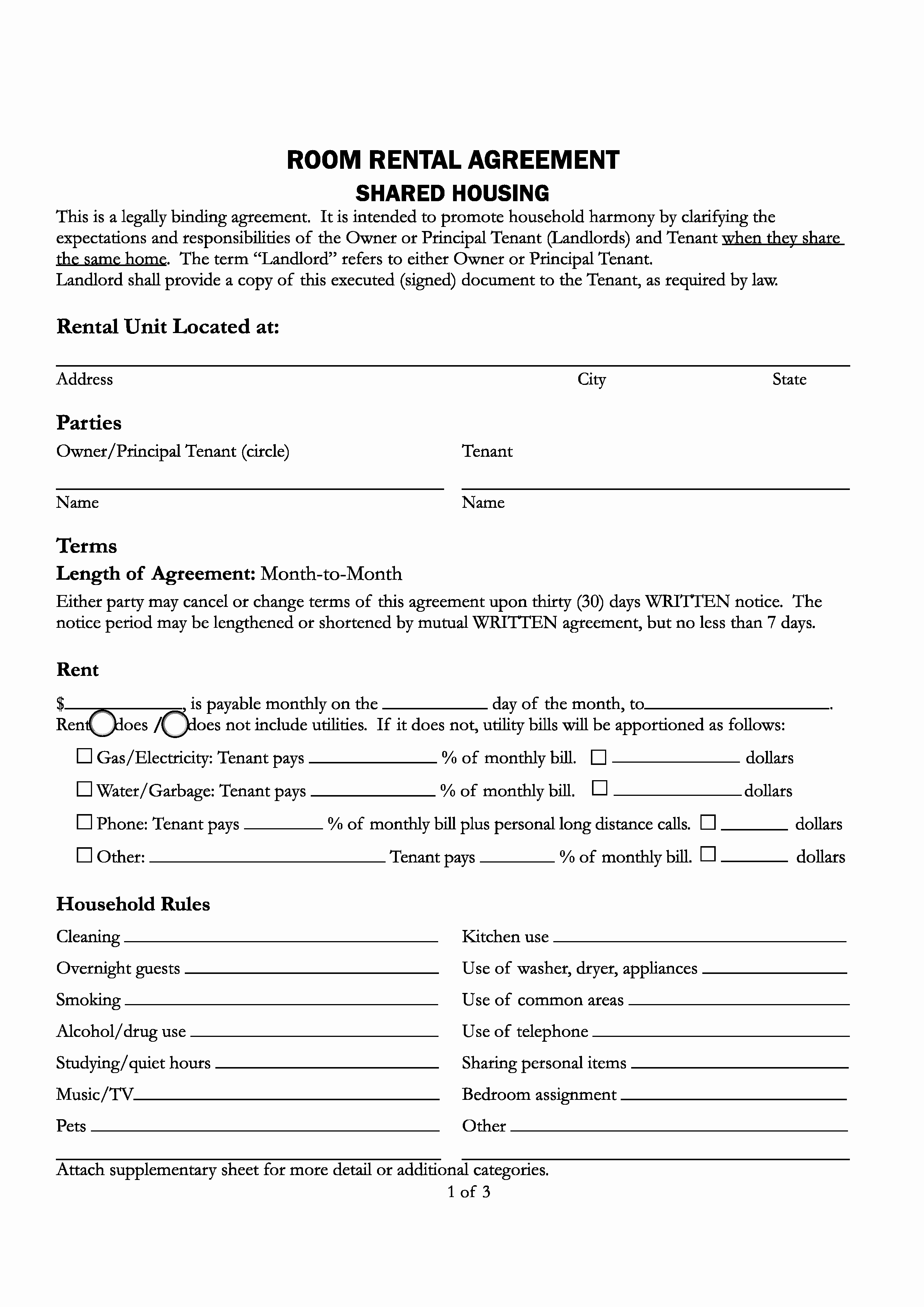 Free Rental Agreement Pdf Lovely Free Santa Cruz County California Room Rental Agreement