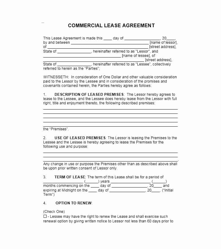 Free Rental Agreement Template Beautiful 26 Free Mercial Lease Agreement Templates Template Lab