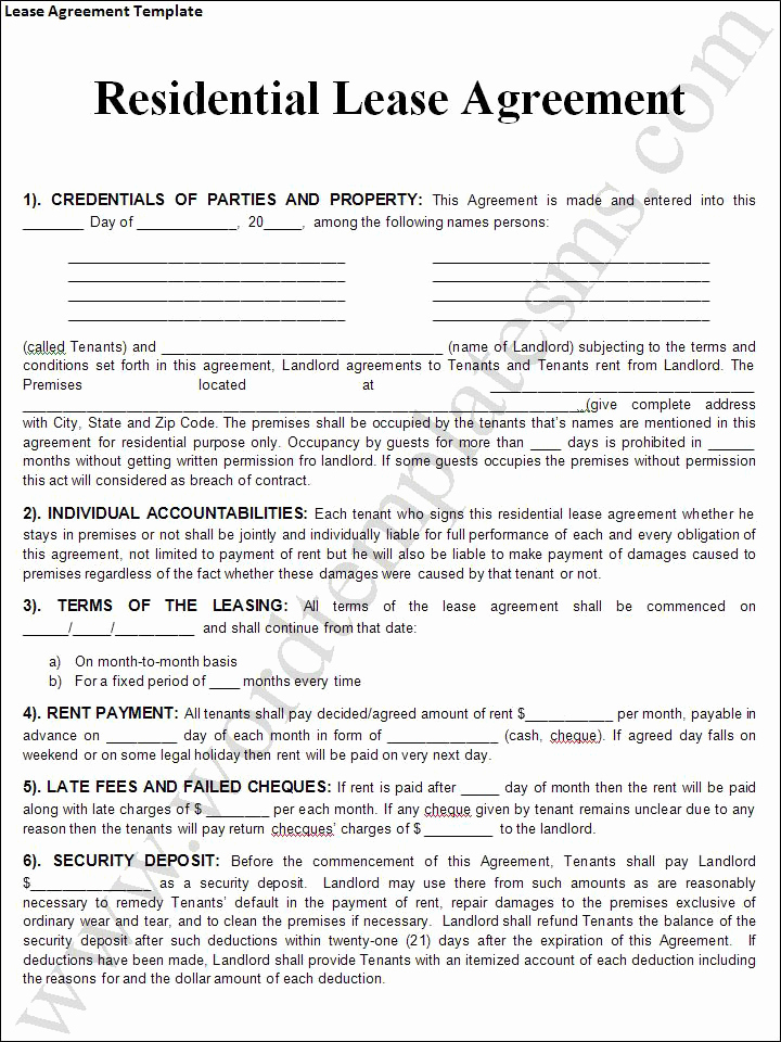 Free Rental Agreement Template Beautiful Rental Lease Agreement Templates Free