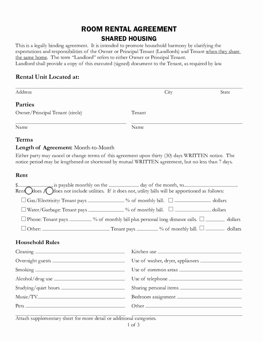 Free Rental Agreement Template Lovely 2019 Rental Agreement Fillable Printable Pdf & forms