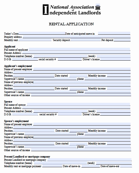 Free Rental Application form Inspirational Free Rental Application form