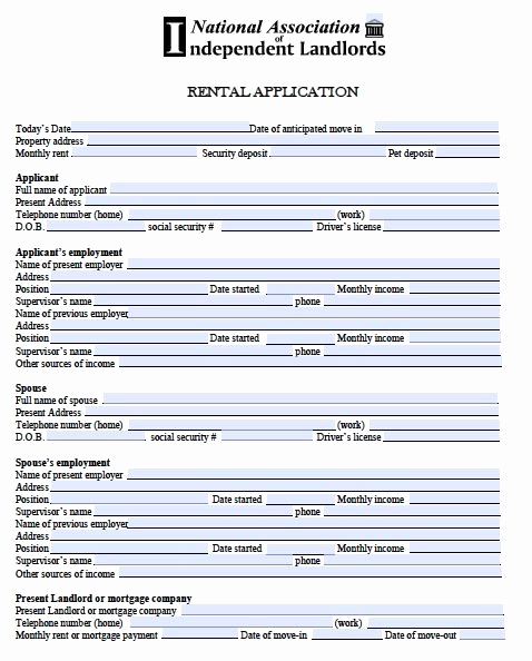 Free Rental Application form Luxury Printable Sample Free Rental Application form form