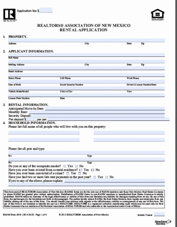 Free Rental Application Pdf Unique Free New Mexico Rental Application Pdf