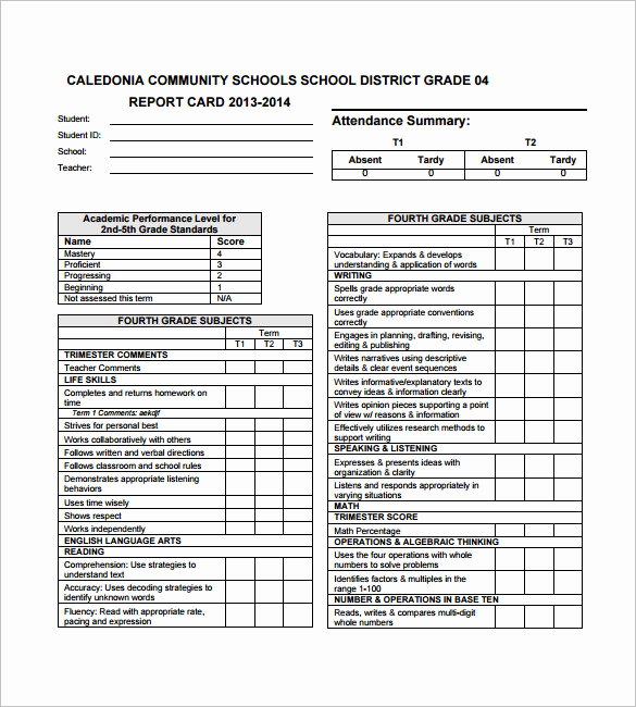Free Report Card Template Beautiful 26 Progress Report Card Templates Google Doc Pdf Psd
