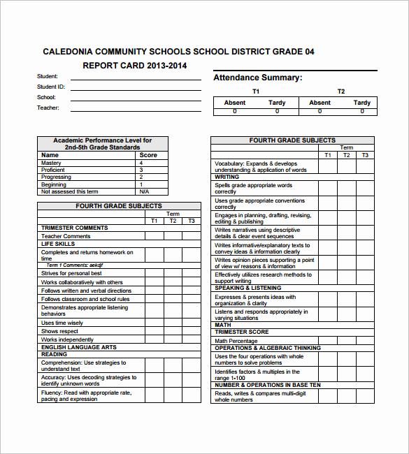 Free Report Card Template Beautiful 26 Progress Report Card Templates Google Doc Pdf Psd