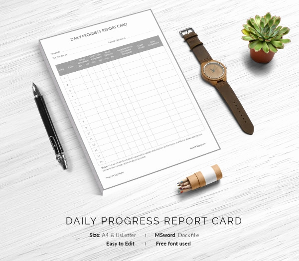 Free Report Card Template Inspirational Report Card Template 28 Free Word Excel Pdf Documents