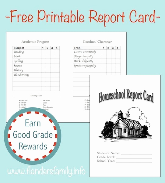Free Report Card Template Unique Home School Report Cards Flanders Family Homelife