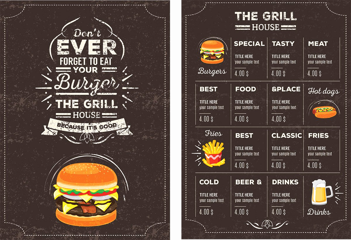 Free Restaurant Menu Templates Awesome top 30 Free Restaurant Menu Psd Templates In 2018 Colorlib