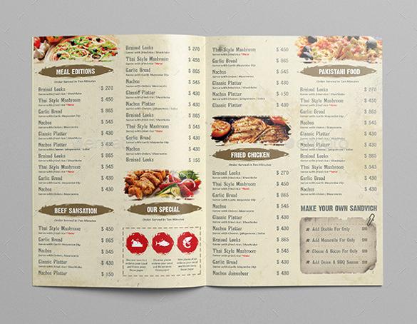Free Restaurant Menu Templates Elegant Restaurant Menu Template 33 Free Psd Eps Documents