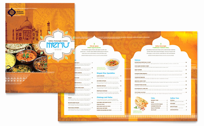 Free Restaurant Menu Templates Fresh Indian Restaurant Menu Template Design