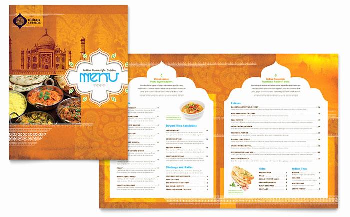 Free Restaurant Menu Templates Fresh Indian Restaurant Menu Template Design