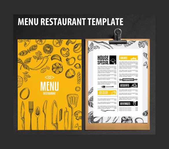 Free Restaurant Menu Templates Inspirational Restaurant Menu Template 33 Free Psd Eps Documents