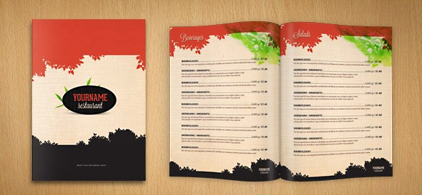 Free Restaurant Menu Templates New Restaurant Menu Psd Template Free Psd Files