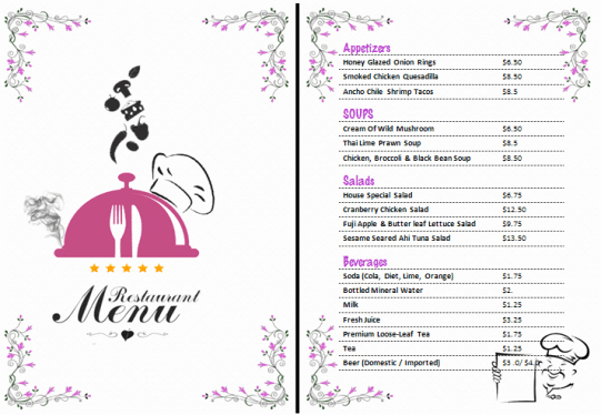 Free Restaurant Menu Templates Unique 21 Free Free Restaurant Menu Templates Word Excel formats