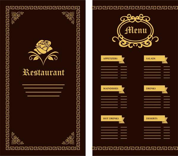 Free Restaurant Menu Templates Unique Restaurant Menu Template Free Vector 18 549 Free