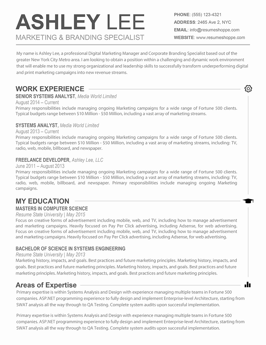 Free Resume Templates for Mac Awesome Resume Template for Mac