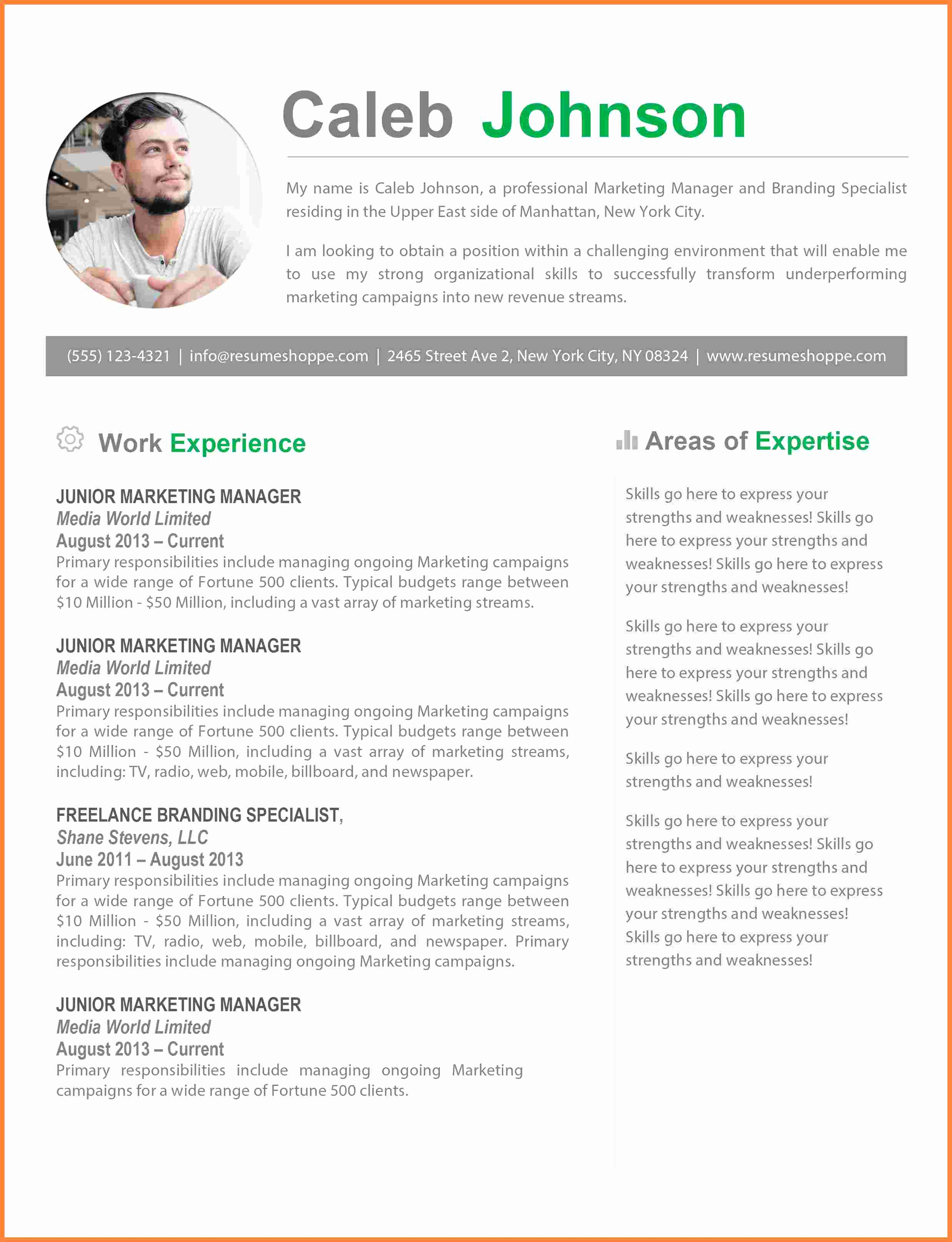 Free Resume Templates for Mac Inspirational 8 Resume Templates for Mac Pages Free