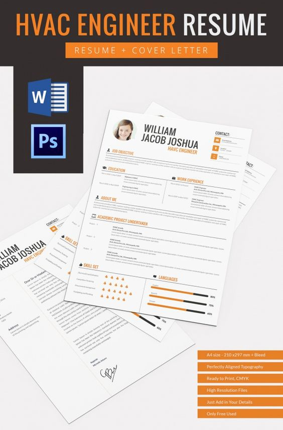 Free Resume Templates for Mac Inspirational Hvac Engineer Resume Template Resume Design