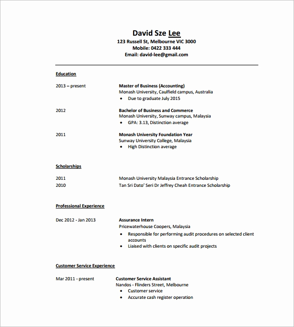 Free Resume Templates Pdf Awesome 8 Tutor Resume Templates – Samples Examples & format
