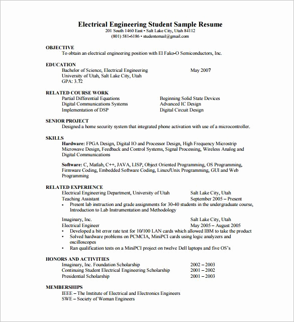 Free Resume Templates Pdf Fresh Resume Template for Fresher 10 Free Word Excel Pdf