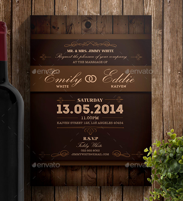 Free Rustic Wedding Invitation Templates Unique 28 Wedding Invitation Wording Templates – Free Sample