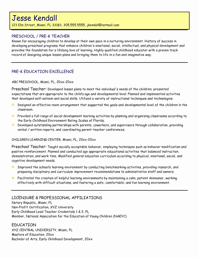 Free Sample Resume for Teachers Awesome Pin by Penny Reese Stallard On Practicum