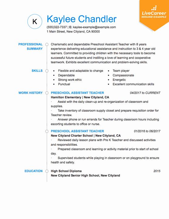 Free Sample Resume for Teachers Inspirational Best Teacher Resume Example