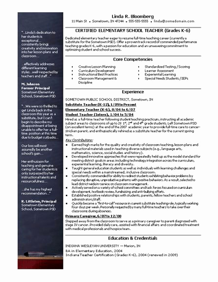 Free Sample Resume for Teachers Luxury 28 Best Images About Teacher Resumes On Pinterest